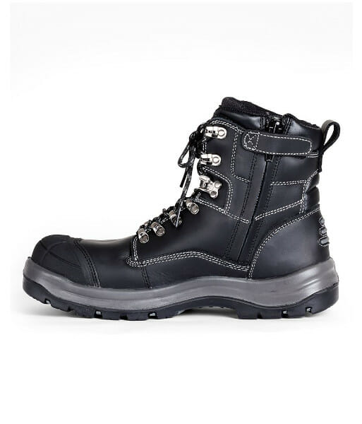 JB's Zip Sided Safety Boot, Sizes 3 to 14 (Half Sizes Available)