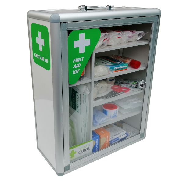 first aid cabinet side