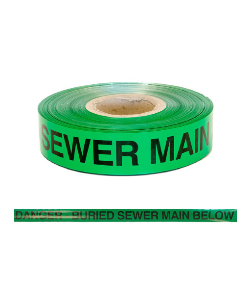 SI-DF-SEWER danger buried sewer main tape